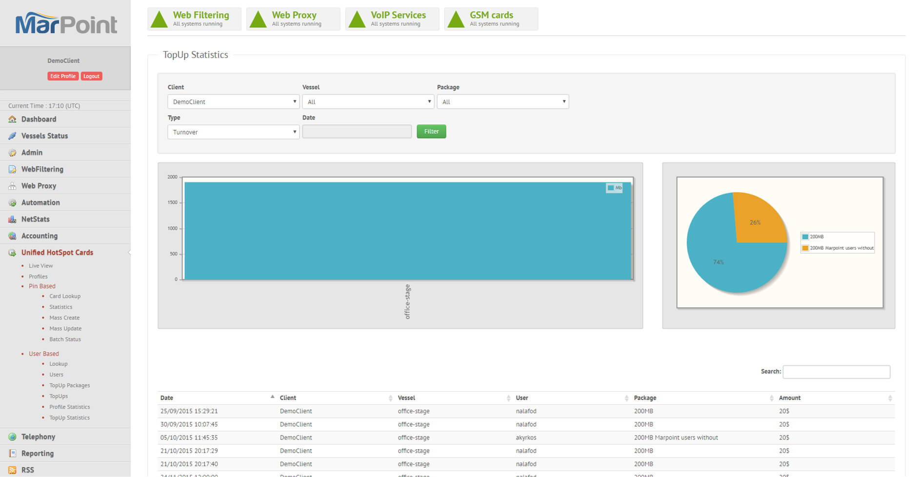 Marpoint control panel screenshot 3