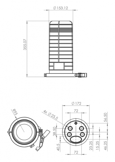 Outdoor-IP68-4G-Router-enclosure-drawing